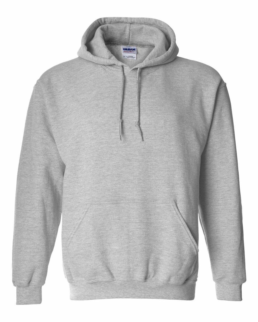 18500 Grey Gildan Hoodie